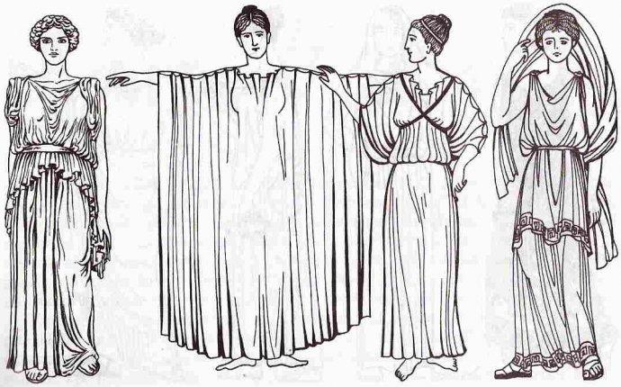 История костюма Древней Греции - ПоясOK.com Народная одежда для